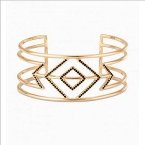 Stella & Dot Pave Sphinx Cuff and Ring Set